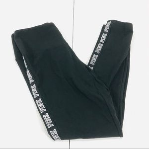 PINK Victoria's Secret Pants - PINK Victoria's Secret Black High Waist Leggings